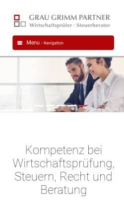 Vorschau der mobilen Webseite www.grau-partner.de, Grau & Partner GbR, Steuerberater und Wirtschaftsprüfer