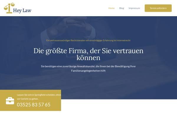 Vorschau von www.heylaw.de, Heymann & Partner, Rechtsanwälte