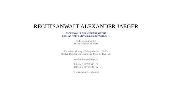 Vorschau von www.rechtsanwaltjaeger.de, Jaeger, Alexander, Rechtsanwalt