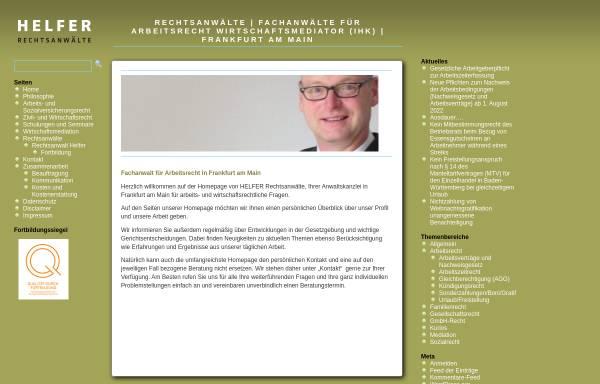 Vorschau von www.helfer-rechtsanwalt.de, Helfer, Andreas, Rechtsanwalt