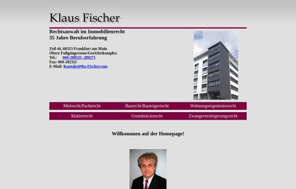 Vorschau von www.ra-fischer.com, Fischer, Klaus, Rechtsanwalt