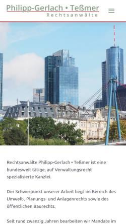 Vorschau der mobilen Webseite www.pg-t.de, Philipp-Gerlach und Tessmer, Rechtsanwälte