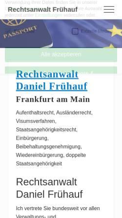 Vorschau der mobilen Webseite www.rechtsanwalt-fruehauf.de, Frühauf, Rechtsanwalt