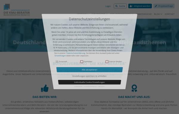 Vorschau von www.kmu-berater.de, Die KMU-Berater - Verband freier Berater e.V.