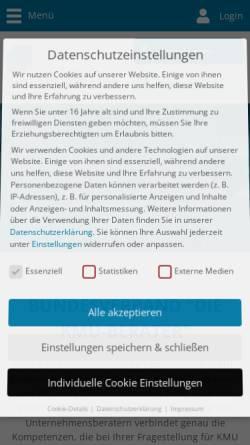 Vorschau der mobilen Webseite www.kmu-berater.de, Die KMU-Berater - Verband freier Berater e.V.