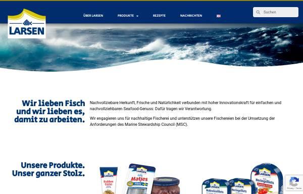 Vorschau von www.larsenseafood.com, Larsen Danish Seafood