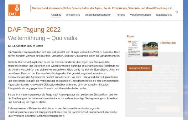 Vorschau von www.agrarforschung.de, Dachverband wissenschaftlicher Gesellschaften der Agrar-, Forst-, Ernährungs-, Veterinär- und Umweltforschung e.V.