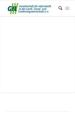 Vorschau der mobilen Webseite www.gil.de, Gesellschaft für Informatik in der Land-, Forst- und Ernährungswirtschaft