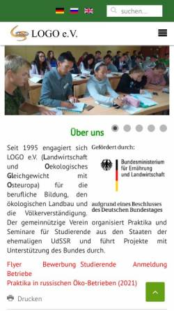 Vorschau der mobilen Webseite www.logoev.de, LOGO e.V.