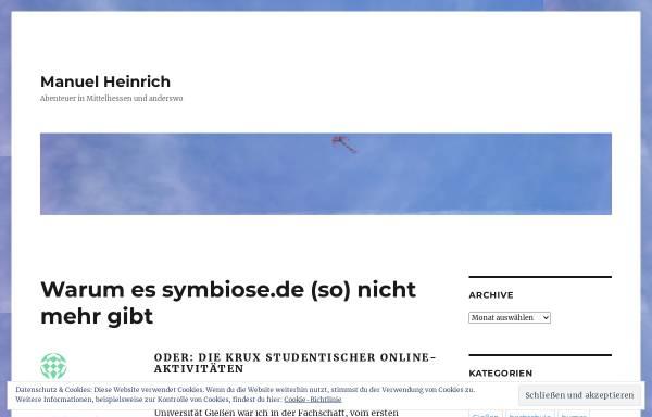 Vorschau von symbiose.manuel-heinrich.de, symbiose - Bundesfachschaftenkonferenz Agrarwissenschaften und Ökotrophologie