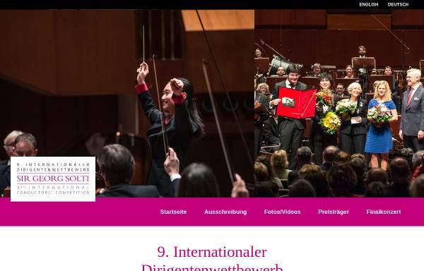 Vorschau von www.dirigentenwettbewerb-solti.de, Internationaler Dirigentenwettbewerb Sir Georg Solti