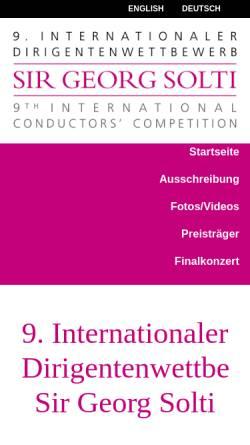 Vorschau der mobilen Webseite www.dirigentenwettbewerb-solti.de, Internationaler Dirigentenwettbewerb Sir Georg Solti