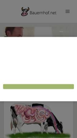 Vorschau der mobilen Webseite www.bauernhof.net, Bauernhof.net