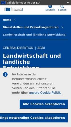 Vorschau der mobilen Webseite ec.europa.eu, Generaldirektion Landwirtschaft der EU Kommission