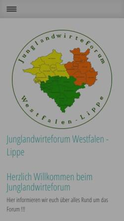 Vorschau der mobilen Webseite www.junglandwirte-forum.de, Junglandwirte-Forum / Das Forum für Junglandwirte in Münster