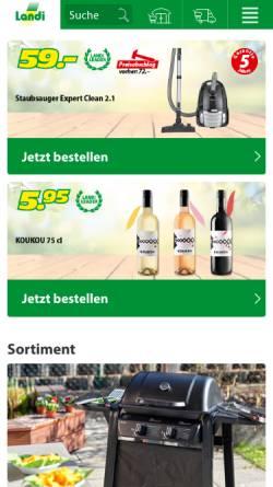 Vorschau der mobilen Webseite www.landi.ch, Landi