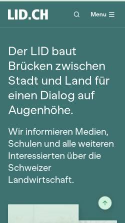 Vorschau der mobilen Webseite www.lid.ch, Landwirtschaftlicher Informationsdienst