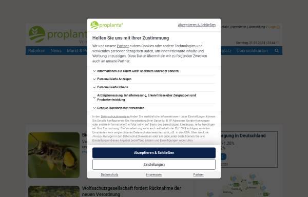 Vorschau von www.proplanta.de, Proplanta