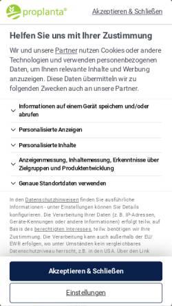 Vorschau der mobilen Webseite www.proplanta.de, Proplanta
