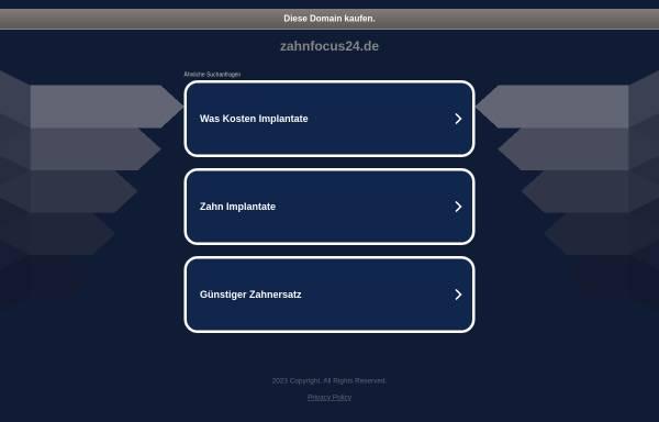 Vorschau von www.zahnfocus24.de, Zahnfocus24