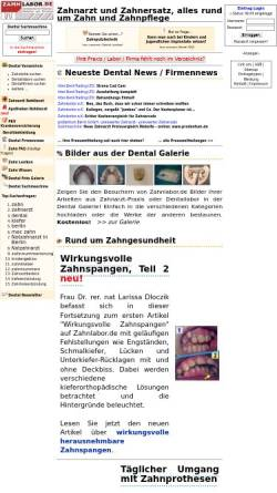 Vorschau der mobilen Webseite www.zahnlabor.de, Zahnlabor