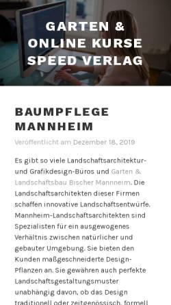 Vorschau der mobilen Webseite www.speed-verlag.de, Speed-Verlag Gerd Rögner