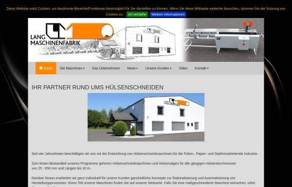 Vorschau von www.maschinenfabrik-lang.de, P.R. Lang Maschinenfabrik GmbH