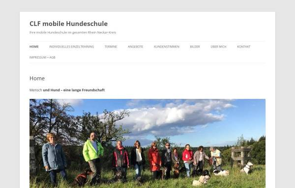 Vorschau von www.clf-mobile-hundeschule.de, CLF - Canis Lupus Familiaris