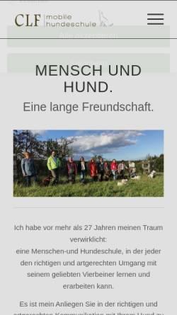 Vorschau der mobilen Webseite www.clf-mobile-hundeschule.de, CLF - Canis Lupus Familiaris