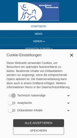 Vorschau der mobilen Webseite www.irjgv-dietenheim.de, Dietenheimer Hundeschule