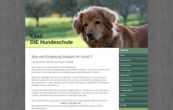Vorschau von www.hundeschule-kaestl.com, Hundeschule Kästl