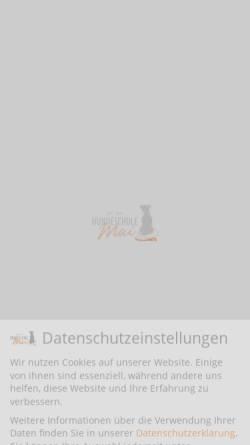 Vorschau der mobilen Webseite www.hundeschule-mai.de, Hundeschule Mai