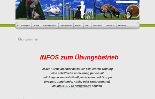 Vorschau von www.hsv-schwaigern.de, Hundesportverein Schwaigern