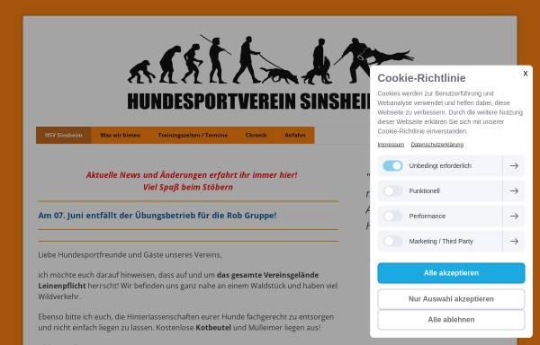 Vorschau von www.hsv-sinsheim.de, Hundesportverein Sinsheim e.V.