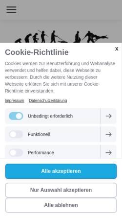 Vorschau der mobilen Webseite www.hsv-sinsheim.de, Hundesportverein Sinsheim e.V.