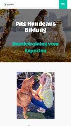 Vorschau der mobilen Webseite www.pits-hundeausbildung.de, Pits Hundeausbildung