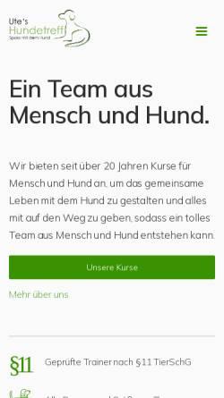 Vorschau der mobilen Webseite utes-hundetreff.de, Ute's - Hundetreff