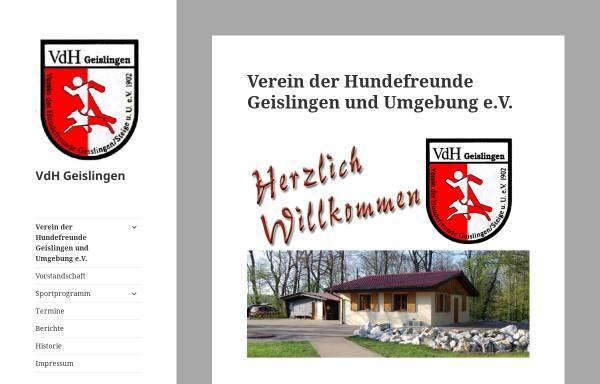 Vorschau von www.vdh-geislingen.de, Verein der Hundefreunde Geislingen/Stg. und Umgebung e.V.