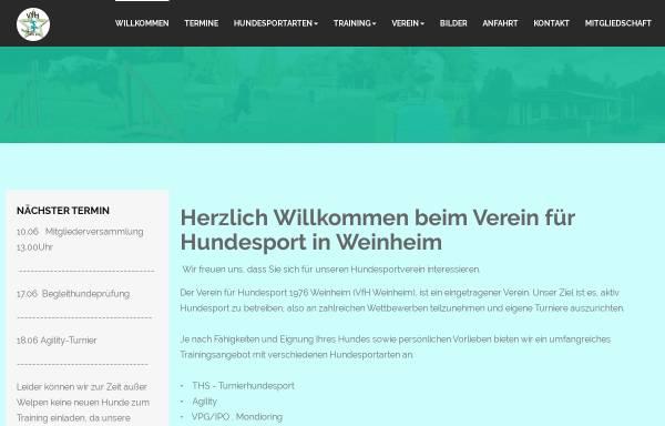 Vorschau von www.vfh-weinheim.de, Verein für Hundesport Weinheim 1976 e.V.