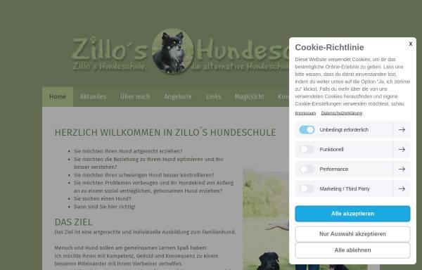 Vorschau von www.zillos-hundeschule.de, Zillos Hundeschule