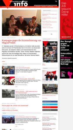 Vorschau der mobilen Webseite www.nadir.org, Antifaschistisches Info Blatt