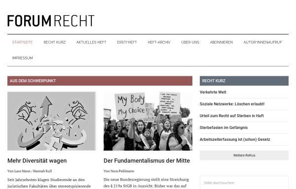 Vorschau von www.forum-recht-online.de, Forum Recht