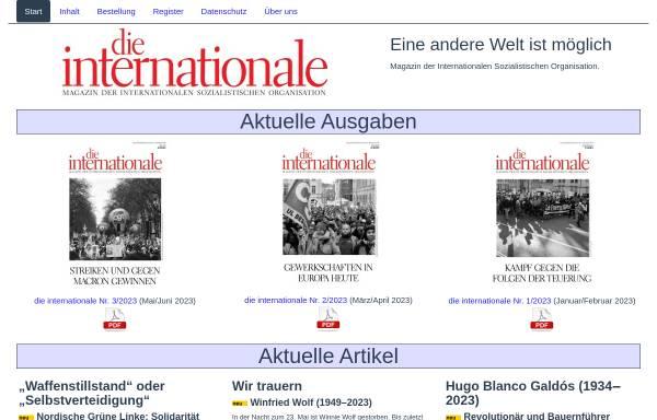 Vorschau von inprekorr.de, Inprekorr - Internationale Pressekorrespondenz