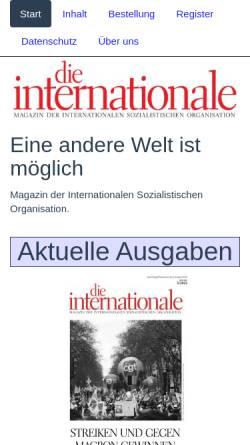 Vorschau der mobilen Webseite inprekorr.de, Inprekorr - Internationale Pressekorrespondenz
