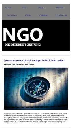 Vorschau der mobilen Webseite www.ngo-online.de, NGO-Online