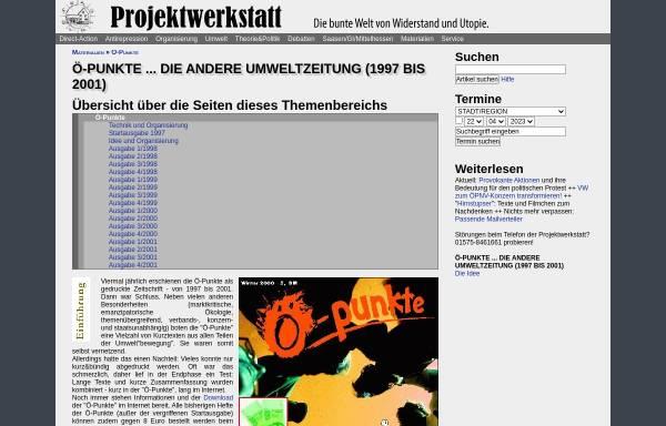 Vorschau von www.projektwerkstatt.de, Ö-Punkte