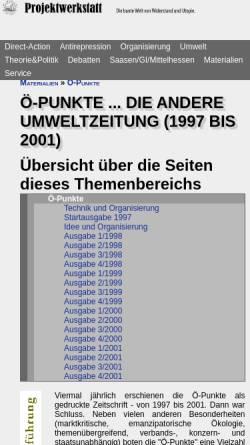 Vorschau der mobilen Webseite www.projektwerkstatt.de, Ö-Punkte