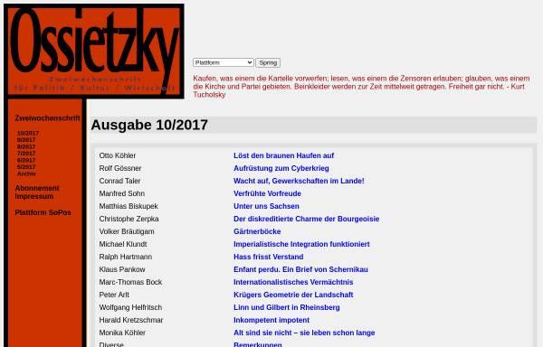 Vorschau von www.sopos.org, Ossietzky