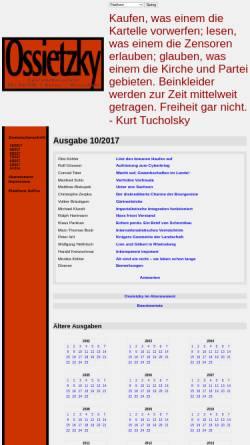 Vorschau der mobilen Webseite www.sopos.org, Ossietzky