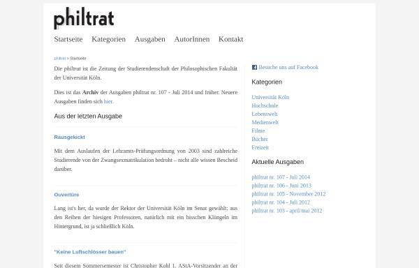 Vorschau von www.philtrat.de, philtrat